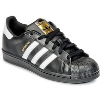 Shoes Children Low top trainers adidas Originals SUPERSTAR Black