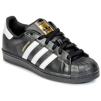 Shoes Boy Low top trainers adidas Originals SUPERSTAR Black