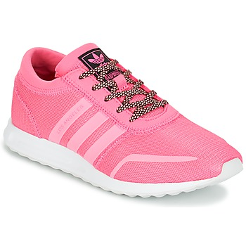 Shoes Girl Low top trainers adidas Originals LOS ANGELES J Pink