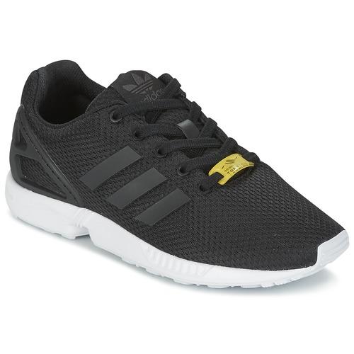 adidas Originals ZX FLUX J Black - Fast