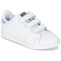 Shoes Girl Low top trainers adidas Originals STAN SMITH CF C White