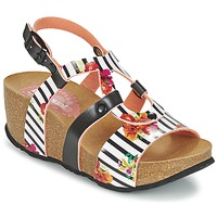 Shoes Women Sandals Desigual BIO 9 FLORES Black / White / FLOWER