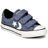 Shoes Boy Low top trainers Converse STAR PLAYER 3V VINTAGE CANVAS OX Blue / White