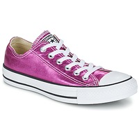 Shoes Women Low top trainers Converse CHUCK TAYLOR ALL STAR SEASONAL METALLICS OX Pink / Metallic