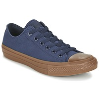 Shoes Men Low top trainers Converse CHUCK TAYLOR ALL STAR II TENCEL CANVAS OX MARINE / Brown