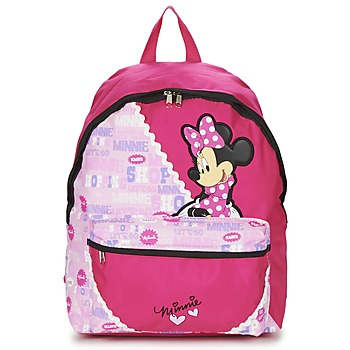 Bags Girl Rucksacks Disney MINNIE SCRATCH DOTS SAC A DOS BORNE Red / Pink