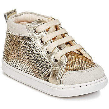 Shoes Girl High top trainers Shoo Pom BOUBA NEW COVER Gold