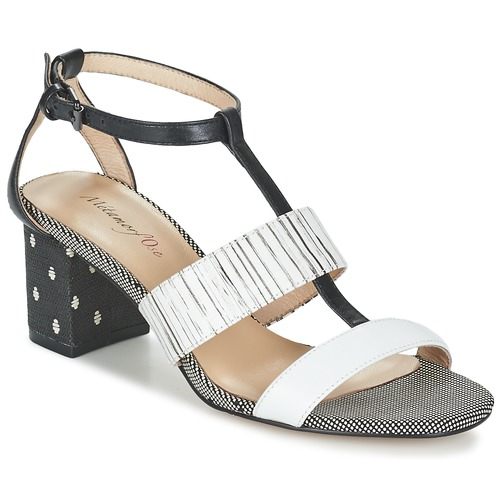 New Metamorf'ose Zafnolo Sandals Black / White For Women Outlet UK