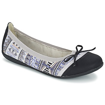 Shoes Women Ballerinas Les P'tites Bombes CAPRICE Grey / Black