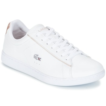 Shoes Women Low top trainers Lacoste CARNABY EVO 217 2 White / Pink