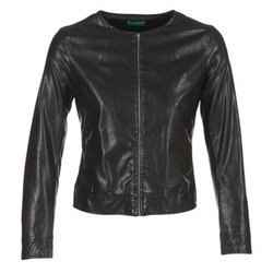material Women Leather jackets / Imitation leather Benetton JANOURA Black