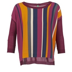 material Women jumpers Benetton OVEZAK BORDEAUX / Multicoloured
