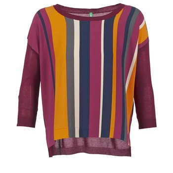 material Women jumpers Benetton OVEZAK Bordeaux / Multicolour