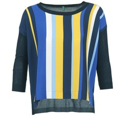 material Women jumpers Benetton OVEZAK Blue / Yellow / White