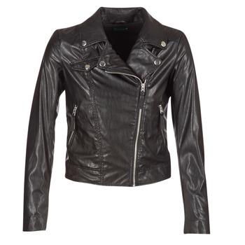 material Women Leather jackets / Imitation leather Benetton FAJOLI Black