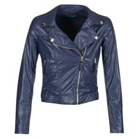 material Women Leather jackets / Imitation leather Benetton FERDONI MARINE