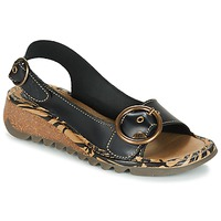 Shoes Women Sandals Fly London TRAMFLY Black
