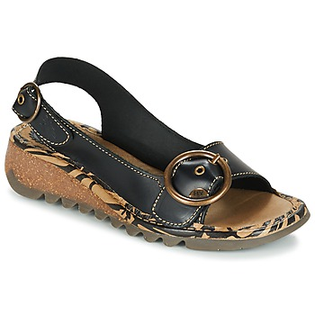Shoes Women Sandals Fly London TRAMFLY Black