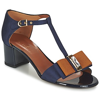 Shoes Women Sandals Heyraud ENAEL Blue / Brown / Black