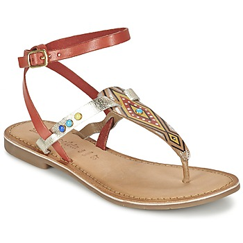 Shoes Women Sandals Lola Espeleta ELODIE Red / Silver
