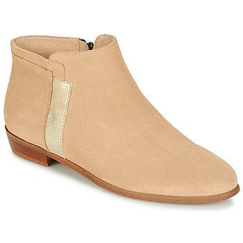 Shoes Women Mid boots M. Moustache EMMANUELLE Beige / Gold