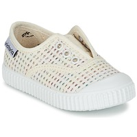 Shoes Girl Low top trainers Victoria INGLESA LUREX ELASTICO Beige
