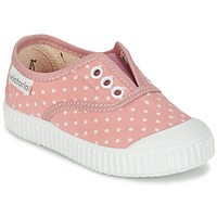 Shoes Girl Low top trainers Victoria INGLESA LUNARES ELASTICO Pink / White