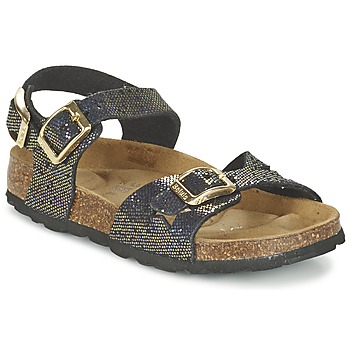 Shoes Girl Sandals Betula Original Betula Fussbett JEAN Black / Gold