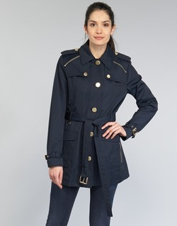 material Women Trench coats MICHAEL Michael Kors ZIPPER YOKE TRENCH MARINE