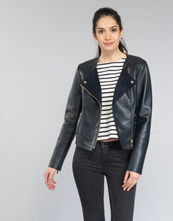 material Women Leather jackets / Imitation leather MICHAEL Michael Kors BONDED LTHER JKT MARINE