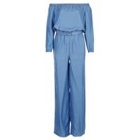material Women Jumpsuits / Dungarees MICHAEL Michael Kors TENCEL OFF SHDR JUMPSUIT Blue