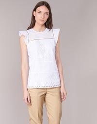 material Women Blouses MICHAEL Michael Kors COMBO EYELET S/S White