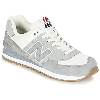 Shoes Low top trainers New Balance ML574 Grey / White