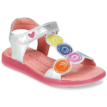 Shoes Girl Sandals Agatha Ruiz de la Prada BIDINETTE Silver