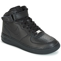 Shoes Boy High top trainers Nike AIR FORCE 1 MID 06 JUNIOR Black