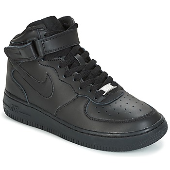Shoes Children High top trainers Nike AIR FORCE 1 MID 06 JUNIOR Black