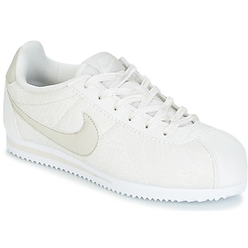 Shoes Girl Low top trainers Nike CORTEZ LEATHER SE JUNIOR BEIGE
