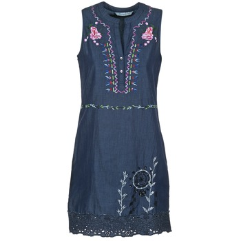 material Women Short Dresses Desigual LIRASE Blue