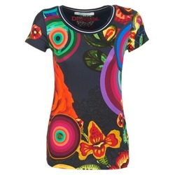material Women short-sleeved t-shirts Desigual GRIZILLO Multicoloured