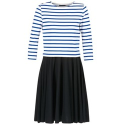 material Women Short Dresses Petit Bateau FINALLY White / Blue