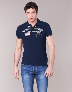 material Men short-sleeved polo shirts Schott ALEC MARINE