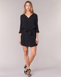material Women Short Dresses See U Soon 7121032 Black