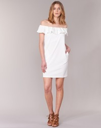 material Women Short Dresses See U Soon 7123017 White