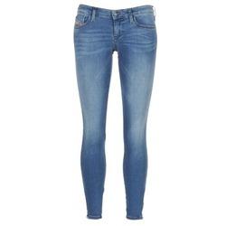 material Women Skinny jeans Diesel SKINZEE LOW ZIP Blue / 0681p