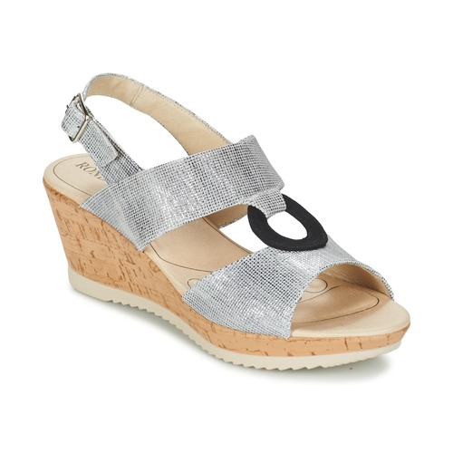 Shoes Women Sandals Rondinaud REPPE Silver / Black