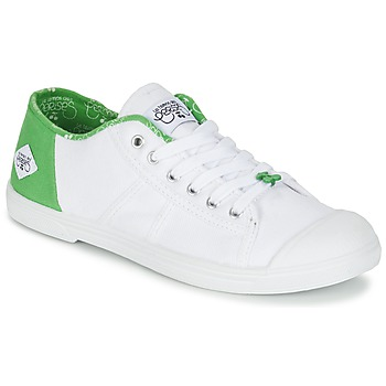 Shoes Women Low top trainers Le Temps des Cerises BASIC 02 White / Green