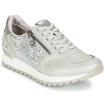 Shoes Women Low top trainers Mustang VENFIN Silver