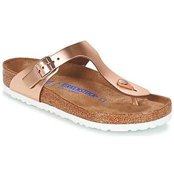 Shoes Women Flip flops Birkenstock GIZEH Bronze