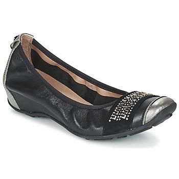 Shoes Women Ballerinas Mam'Zelle FADILA Black / Silver