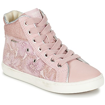 Shoes Girl High top trainers Geox J KIWI G. H Pink